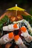 Yellowtail σαλάτα τόνου Στοκ Εικόνες