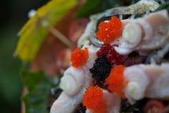 Yellowtail σαλάτα τόνου Στοκ φωτογραφίες με δικαίωμα ελεύθερης χρήσης