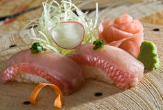 Yellowtail nigiri Royalty Free Stock Images