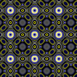 Yellowy-blue dark curlicue pattern. Stock Images