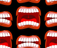 Yells lips seamless pattern. cry background. aggressive emotion Stock Photo