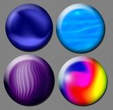 Yelly buttons. Four 3d illustrated buttons on grey background Stock Images