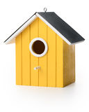 Yelolow bird box Stock Photos