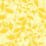 Yeloow mit Blumennahtloses Stockfotos
