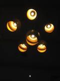 Yelow有电灯泡的照明设备灯 免版税图库摄影