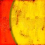 Yelow abstrait et fond rouge Image libre de droits
