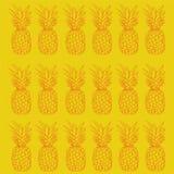 Yelow de conception de modèle d'ananas illustration libre de droits