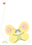 Yelow della farfalla di vettore Immagine Stock