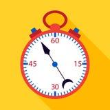 Yelow excedente liso do cronômetro Fotos de Stock