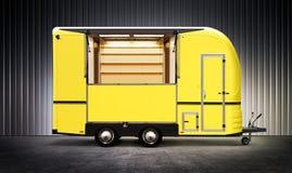 Yelow food truck Stock Image