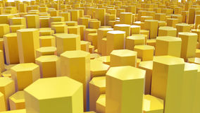 Yelow hex landscape Royalty Free Stock Images