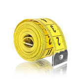 Yelow measuring tape, Royalty Free Stock Photography