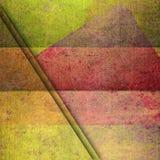 Yelow och geometriskt bakgrundskort för röd grunge Royaltyfria Foton