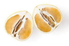 Yelow pomelo fruit on white Backgorund Royalty Free Stock Photo