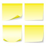 Yelow sheet of paper Stock Photos