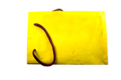 Yelow shop bags on white Royalty Free Stock Photography