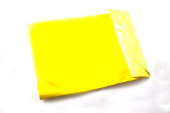 Yelow shop bags on white Royalty Free Stock Images