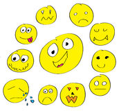 Yelow smile Royalty Free Stock Image