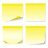Yelow täcker av pappers- Arkivfoton