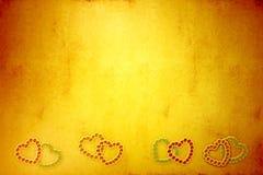 Yelow-Valentinsgrußtagesgrußkarte Stockbild