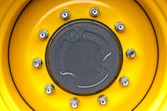 Yelow Wheel Rim Stock Photo