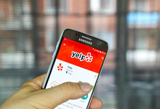 Yelp mobile app Stock Image