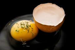 Yema de huevo descascada Fotos de archivo