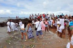 Yemanjá Party. In Salvador, Bahia, Iemanjá Party Candoblé espiritual ritual Stock Image