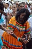 Yemanjátraditie stock afbeelding