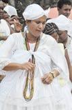 Yemanjá Party. In Salvador, Bahia, Iemanjá Party Candoblé espiritual ritual Stock Photography