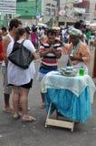Yemanjá Party. In Salvador, Bahia, Iemanjá Party Pai de Santo a candomble blessing mentor Stock Images