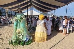 Yemanja celebration in Rio de Janeiro royalty free stock photos