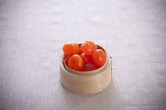 Yemas de huevo saladas del pato Imagenes de archivo