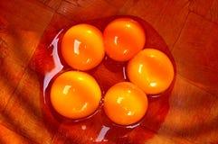 Yemas de huevo separadas Fotografía de archivo libre de regalías