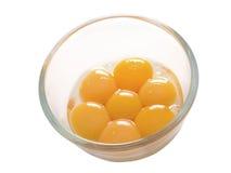 Yemas de huevo separadas Fotos de archivo libres de regalías