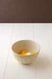 Yemas de huevo y azúcar Fotos de archivo libres de regalías