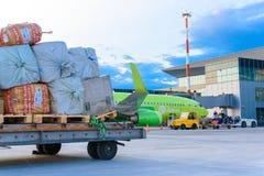Yemelyanovo Airport. Krasnoyarsk. Russia-15.08.2018. Official spotting. stock image