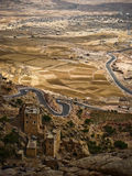 Yemen. Village in the countrside near Sanaa, Yemen Royalty Free Stock Photography