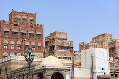 yemen Architecture traditionnelle de vieille ville à Sanaa Photo libre de droits