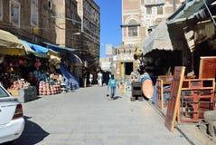 Yemen, de oude stad van Sanaa Royalty-vrije Stock Fotografie