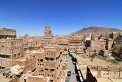 Yemen, de oude stad van Sanaa Stock Foto's
