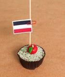 Yemen flag on a apple cupcake Stock Image