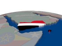Yemen with flag Royalty Free Stock Photo