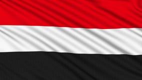 Yemen flagga. stock video