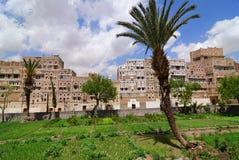 yemen Gammal stad av Sanaa Royaltyfria Foton