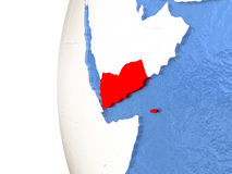 Yemen on globe Royalty Free Stock Photography