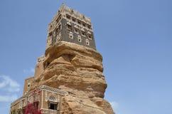 Yemen, het Paleis van Imam in Wadi Dhar in Sana'a Stock Afbeeldingen