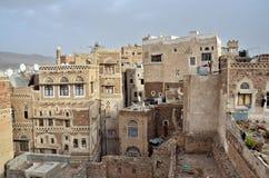 Yemen, historisch centrum van Sana'a Royalty-vrije Stock Foto's