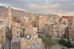 Yemen, historisch centrum van Sana'a Stock Afbeelding
