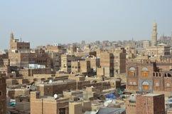 Yemen, historisch centrum van Sana'a Stock Foto's